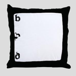 Bored_10x10Fr Throw Pillow