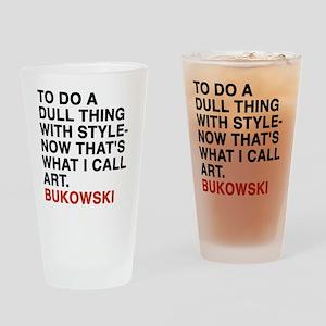 bukowski10 Drinking Glass