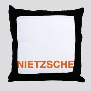 nietzsche2_w Throw Pillow
