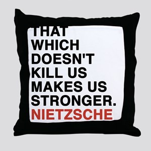 nietzsche3 Throw Pillow