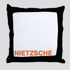 nietzsche3_w Throw Pillow