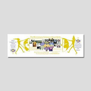 Memnosyne Flower poster for cafe Car Magnet 10 x 3