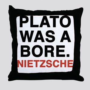 nietzsche2 Throw Pillow