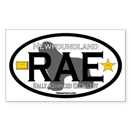Newfoundland Rally RAE Title Sticker (Rectangle)
