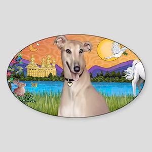 LIC-FantasyLand-Greyhound Sticker (Oval)