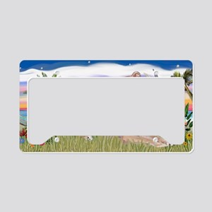 LIC-Palms-Greyhound-lying dow License Plate Holder
