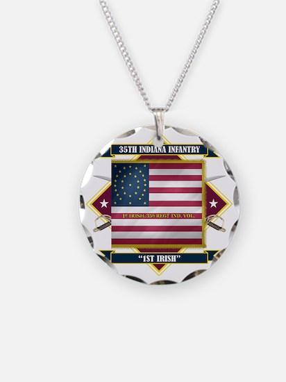 35th Indiana -1st Irish (Dia Necklace Circle Charm