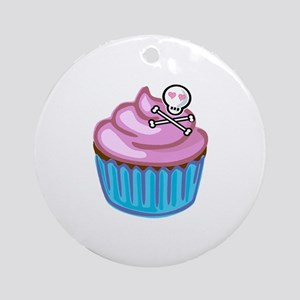 Cupcake Queen BS Round Ornament