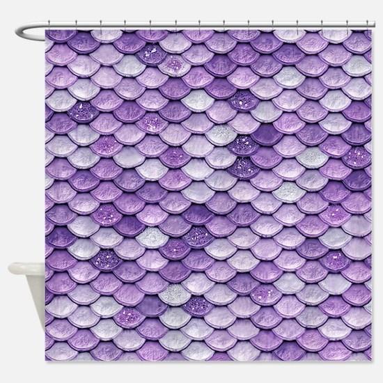 Funny Purple Shower Curtain