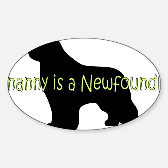 NannyNewf Sticker (Oval)