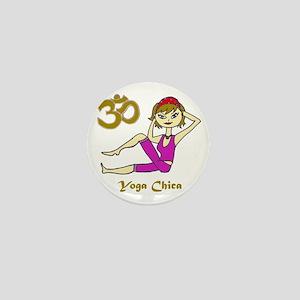 Yoga Chica-Blonde copy Mini Button