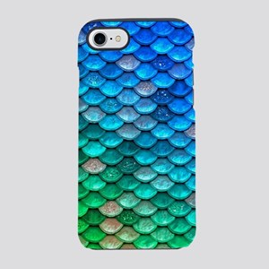 Teal Iridescent Shiny Glitter iPhone 7 Tough Case