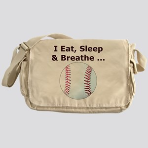 Baseball, Eat, Sleep  Breath Basebal Messenger Bag