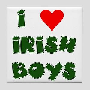 I Heart Irish Boys Tile Coaster