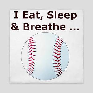 Baseball, Eat, Sleep  Breath Baseball  Queen Duvet