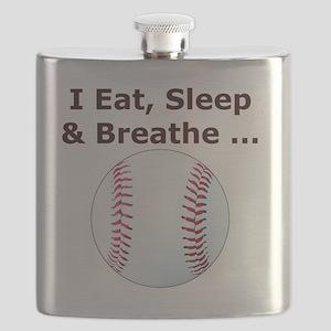Baseball, Eat, Sleep  Breath Baseball T-Shir Flask