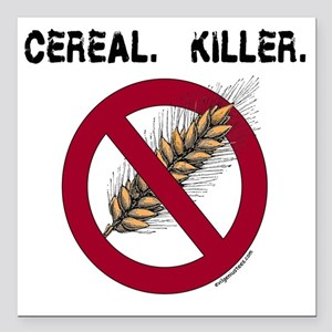 "cerealkillerhealth Square Car Magnet 3"" x 3"""