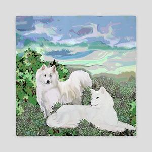 samoyed blanket Queen Duvet
