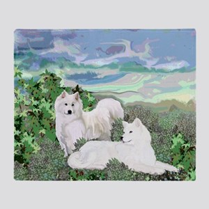 samoyed blanket Throw Blanket