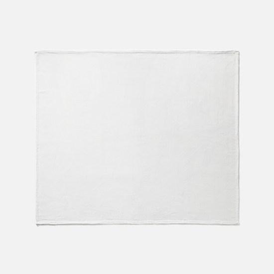 moustache_wh Throw Blanket