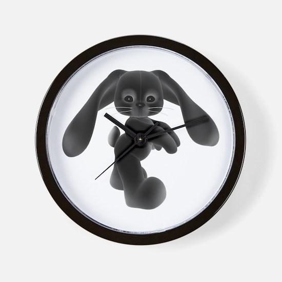 Black Bunny - Baby Steps Wall Clock