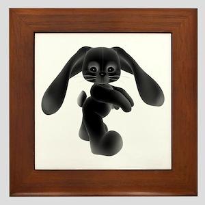 Black Bunny - Baby Steps Framed Tile