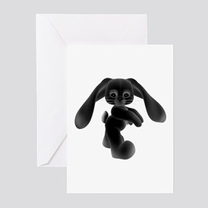 Black Bunny - Baby Steps Greeting Cards (Package o