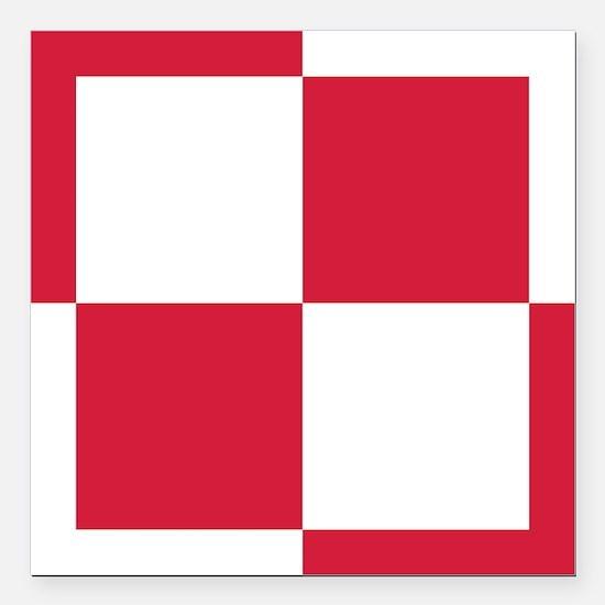 "pl1 Square Car Magnet 3"" x 3"""