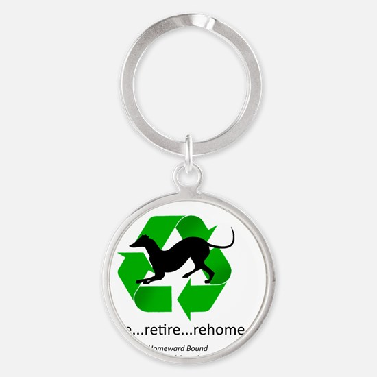 RGB-Recycled-greyhound Round Keychain