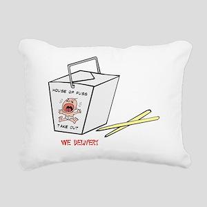 house of fuss. Rectangular Canvas Pillow