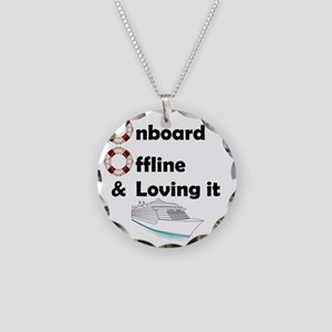 Onboard-Offline Necklace Circle Charm