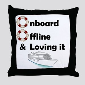 Onboard-Offline Throw Pillow