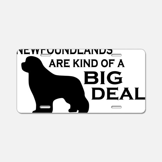 Newfs are a Big Deal Aluminum License Plate