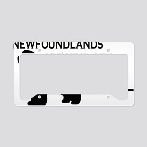 Newfs are a Big Deal License Plate Holder