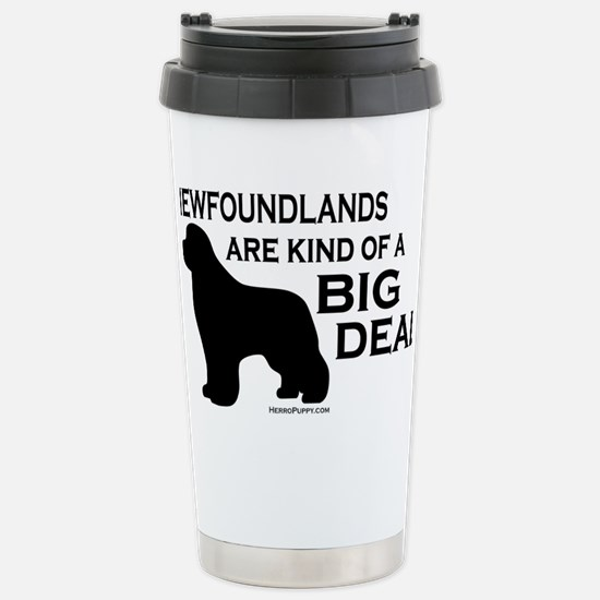 Newfs are a Big Deal Stainless Steel Travel Mug