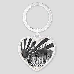 New York Style Heart Keychain