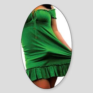 green2 Sticker (Oval)