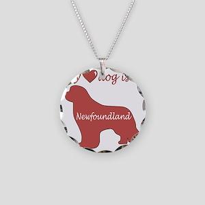 HeartDogisaNewf Necklace Circle Charm