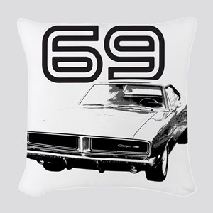 1969 Charger 03 Woven Throw Pillow