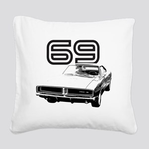1969 Charger 03 Square Canvas Pillow
