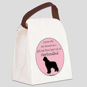 Newf - Girls Best Friend Canvas Lunch Bag