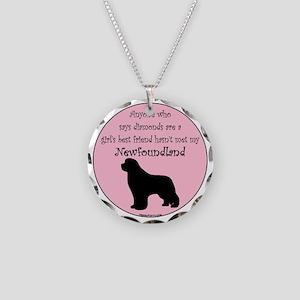 Newf - Girls Best Friend Necklace Circle Charm