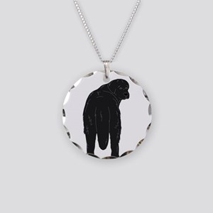 Black Newf - Junk in the Tru Necklace Circle Charm
