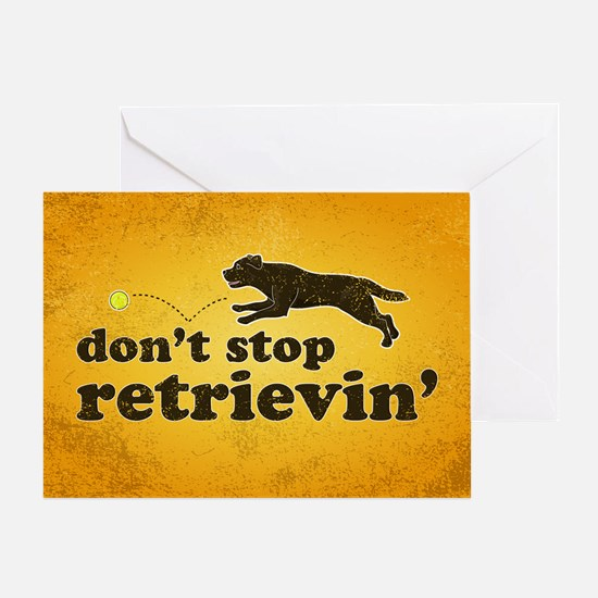 retrievin-distressedbgchoc3555 Greeting Card