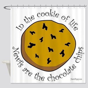 Newfs are the Chocolate Chips Shower Curtain