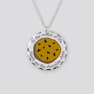 Newfs are the Chocolate Chip Necklace Circle Charm