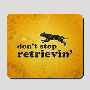 retrievin-distressedbgchocsq Mousepad