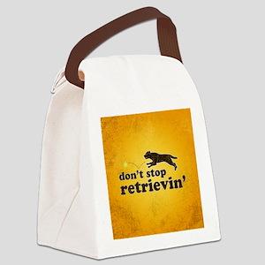 retrievin-distressedbgchocsq Canvas Lunch Bag