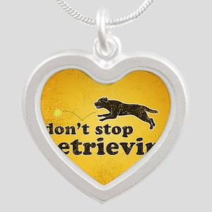 retrievin-distressedbgchocsq Silver Heart Necklace