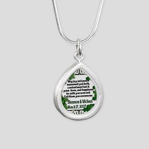 Irish wedding saying2 Silver Teardrop Necklace
